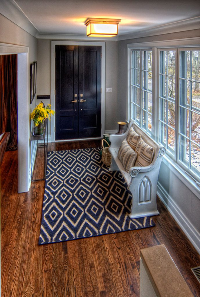 Oriental rugs in Hallway