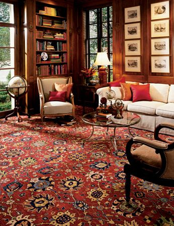 perisan rug with heavy upholstery