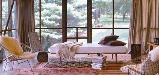 Persian rugs on floor
