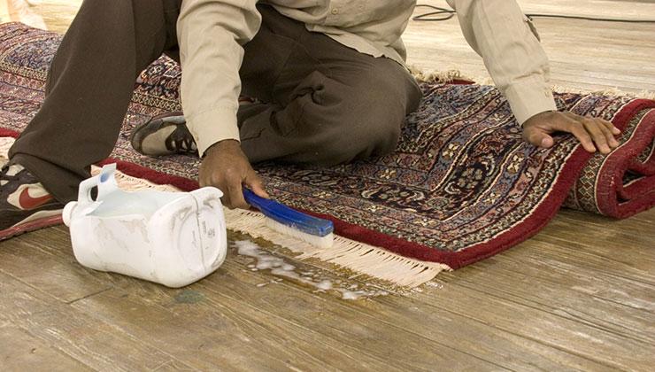 rug wiping