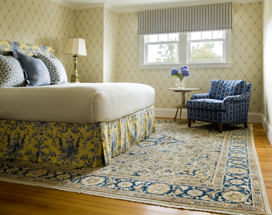 persian rug in bedroom