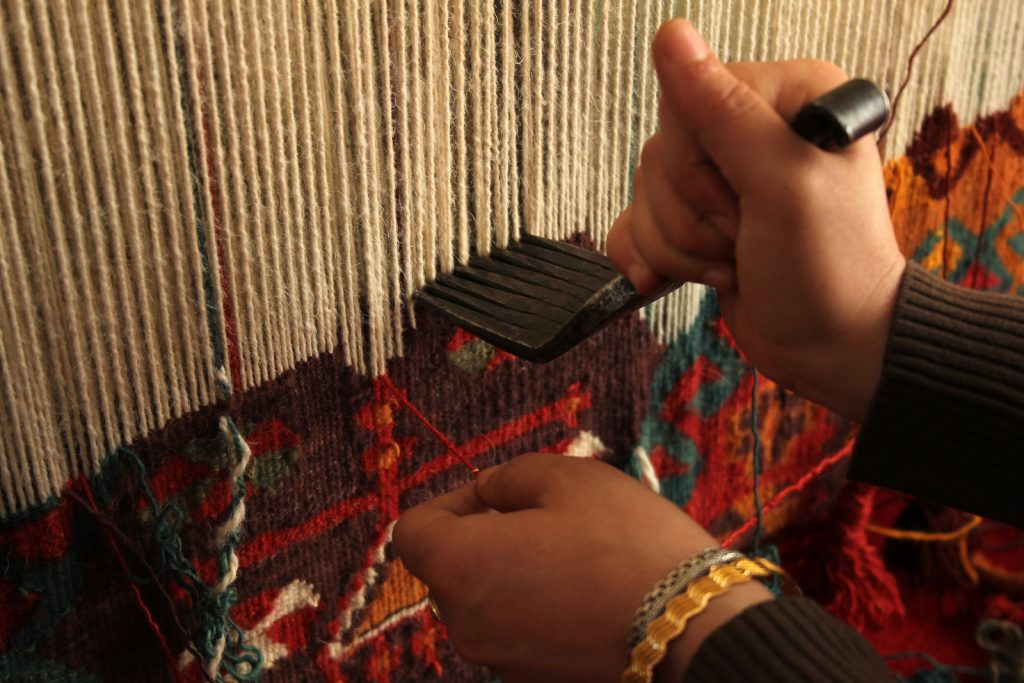 persian rug weaving