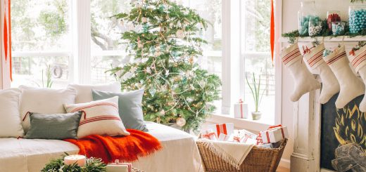 christmas decor with rugs