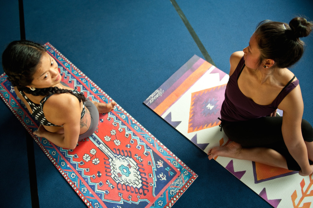 rugs as yoga mat