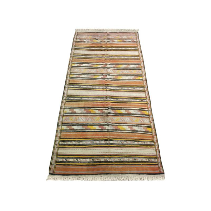 Antique Tribal Wool Silk Rug