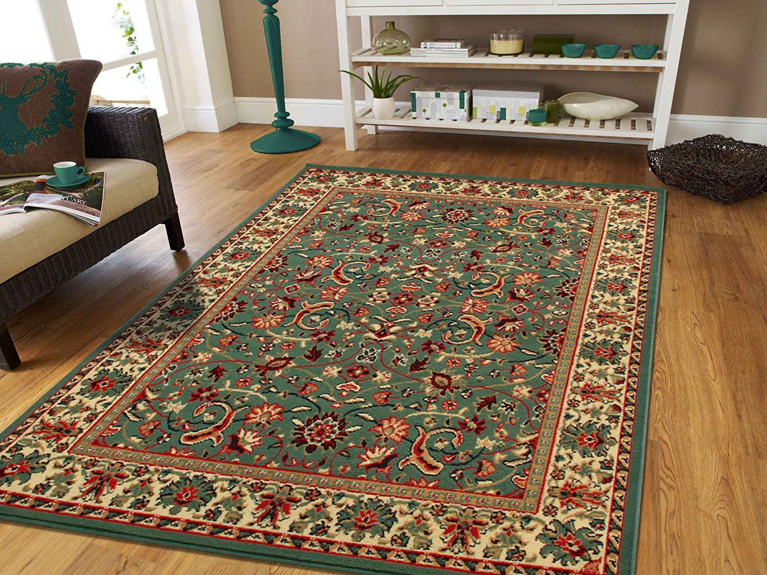 persian rug in a room